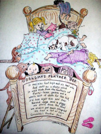 Grandma's Feathered Bed by Laura Anne Miller after John Denver's Song